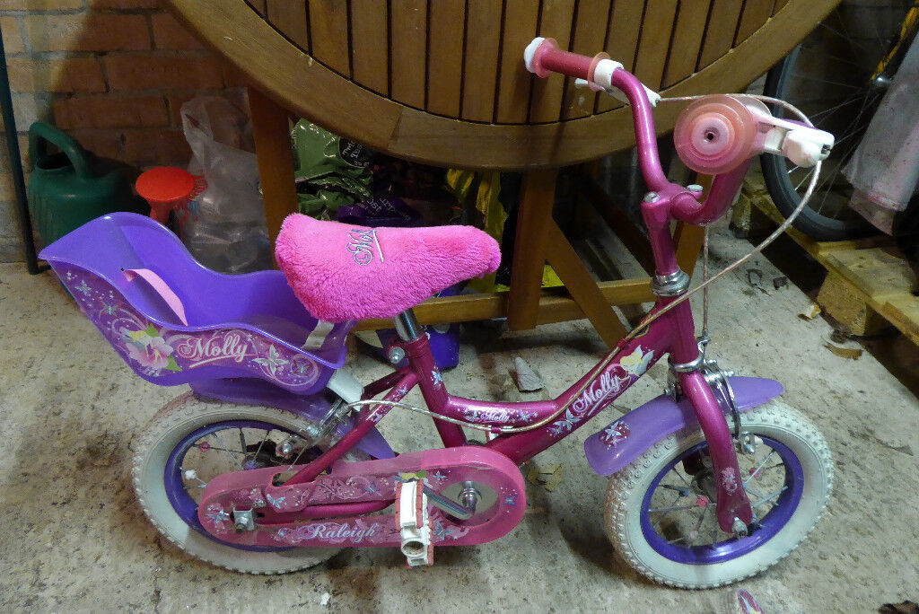 5676b28d52f Raleigh 'Molly' toddler bicycle with stabilisers and a back seat | in ...