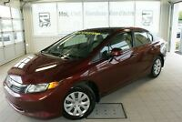 2012 Honda Civic LX + A/C + CRUISE + BLUETOOTH