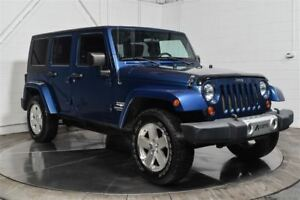 2009 Jeep WRANGLER UNLIMITED UNLIMITED SAHARA 4X4 CUIR MAGS A/C
