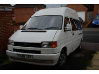 VW Campervan T4 2.4. Low mileage. Year's MOT. £1000's spent. LWB and High Top. New clutch+batteries