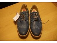 Anatomic and Co blue leather shoez