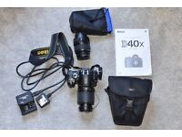 Nikon D40x Digital SLR camera with 2 zoom lenses & case