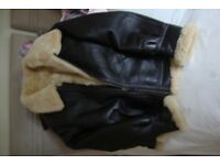 Air force flying jacket, fur lined