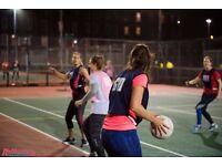 Social netball in Waterloo