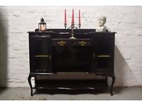 Victorian ebonised sideboard (DELIVERY AVAILABLE)