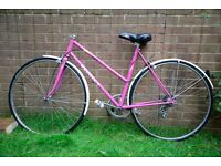 Peugeot Ladies bike project - really good condition paint, new Michelin tyres,