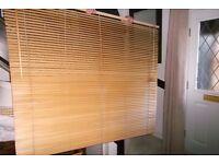 Timber Venetian blinds 130cm deep, 150cm wide