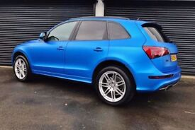 2010 AUDI Q5 S LINE QUATTRO 2.0 TDI 170 **WRAPPED MATTE BLUE** FINANCE AVAILABLE