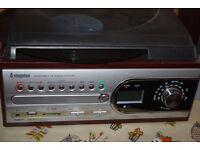 COMPACT TURNTABLE/CD/RADIO PLAYER
