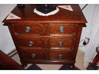 ANTIQUE VICTORIAN OAK CHEST CHEST OF DRAWERS