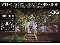 £99 WEDDING PHOTOGRAPHY WORKSHOP - PORTFOLIO SHOOT + EDITING DEMO Second 2nd photographer assistant