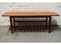 Danish teak coffee table (DELIVERY AVAILABLE)