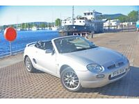 mg f open top sports car low mileage and new MOT priced for quick sale
