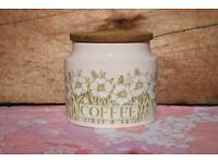 Hornsea Fleur Coffee Barrel retro vintage