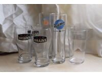 7 branded pints/glasses
