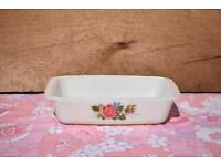 Pyrex JAJ Cottage Rose Oblong Casserole Dish retro vintage