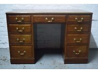 mahogany kneehole desk (DELIVERY AVAILABLE)