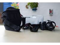 Pentax K-S2 DSLR with 18-50mm lens, lens hood and manfrotto bag (Near new condition)