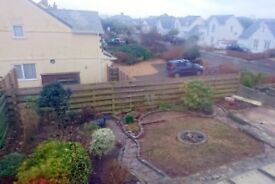 4 bed detached house with garden, parking and garage. Tintagel