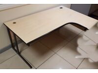CHEAP! Large Curved Corner Office Desk - REDUCED TO CLEAR!