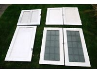 1930s Vintage Painted Alcove Cupboard Doors 6 Doors Two Matching Pairs Home Restoration Project