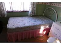 single Devan bed with headboard