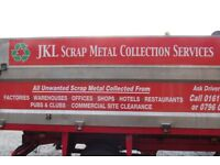 JKL SCRAP METAL COLLECTION SERVICE COVERING ALL AREAS OF GREATER MANCHESTER FULLY LICENSED / FREE