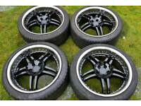 """Wolfrace alloy wheels - 18"""" deep dish - 5 x 100 - 225/40 - great condition - £170 ono"""