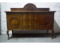 mahogany ledgeback sideboard (DELIVERY AVAILABLE)