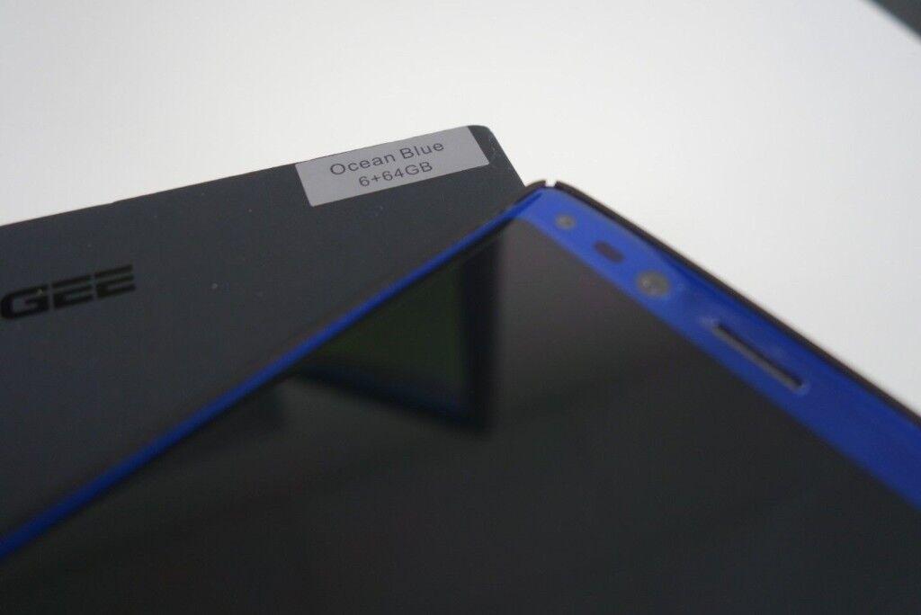 Doogee Mix 2 ocean blue 6gb ram 64gb, quad camera. Face unlock, Unlocked mobile