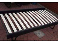 single steel frame bed