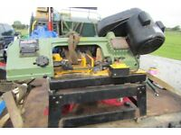WARCO POWER SAW BANDSAW WITH TILTING TABLE FOR ANGLES 240 VOLTS LOCATION BEDFORD 4 NEW BLANDS