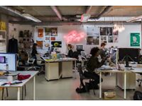 £150 desk space in East London Haggerston. Creative freelancers second home.