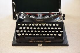 Vintage Imperial The Good Companion Typewriter - 1930's, working and great condition