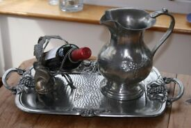 Luxury Pewter 3 Piece Wine/Cold drinks serving set