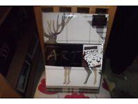 Contemporary Art Woodland Stag Single Duvet Set