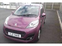 Peugeot 107 1.0 Active 5 dr; 2014 One lady owner, full service history, warranty until April 2017
