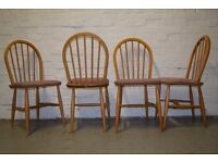 Four Ercol Dining Chairs (DELIVERY AVAILABLE)
