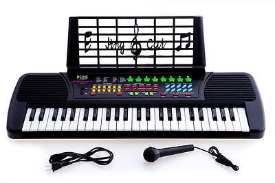 New De Rosa KB49 49-Key Kid's Electronic Piano Keyboard w/ Microphone