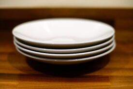 Set of 4 Steelite white plates and dishes - very solid in high quality