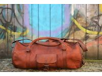 Large Brown Leather Holdall/Travel Bag (Brand New) XMAS SALE 10% OFF