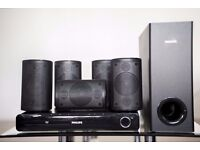 600W Philips Home Cinema 5.1 speakers with DVD player