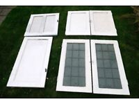 Antique Painted Alcove Cupboard Doors 6 Doors Two Matching Pairs 1930s Home Restoration Project
