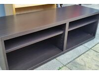 tv media bench table, wood 120cm wide x 40cm depth x 40cm height. in excellent condition.