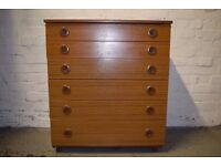 Retro Chest Of Drawers (DELIVERY AVAILABLE)