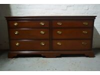 Stag chest of six drawers (DELIVERY AVAILABLE)