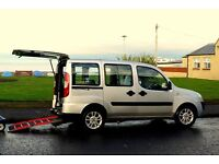 Fiat Doblo, disability adapted Colt Twin mobility scooter and wheelchair included