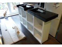 DJ Desk and record shelves