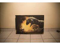 Dinosaur Canvas from heros tv series