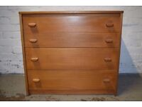 Stag Chest Of Drawers (DELIVERY AVAILABLE)